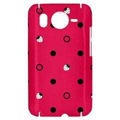Strawberry Dots Black With Pink HTC Desire HD Hardshell Case