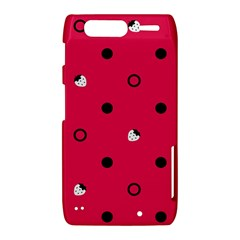 Strawberry Dots Black With Pink Motorola Droid Razr XT912 Hardshell Case