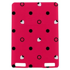 Strawberry Dots Black With Pink Kindle Touch 3G Hardshell Case