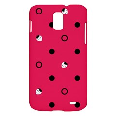 Strawberry Dots Black With Pink Samsung Galaxy S II Skyrocket Hardshell Case