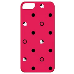 Strawberry Dots Black With Pink Apple iPhone 5 Classic Hardshell Case