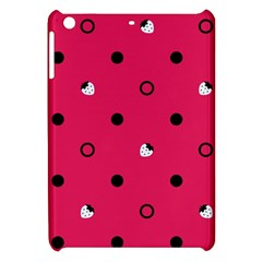 Strawberry Dots Black With Pink Apple iPad Mini Hardshell Case