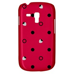 Strawberry Dots Black With Pink Samsung Galaxy S3 MINI I8190 Hardshell Case