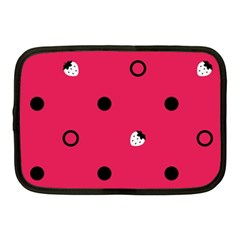 Strawberry Dots Black With Pink Netbook Case (medium)