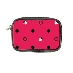 Strawberry Dots Black With Pink Coin Purse