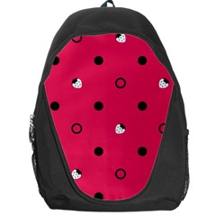 Strawberry Dots Black With Pink Backpack Bag