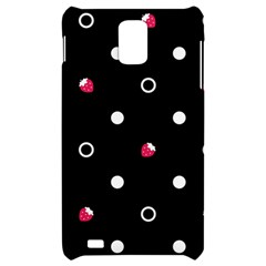 Strawberry Dots White With Black Samsung Infuse 4G Hardshell Case