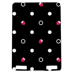 Strawberry Dots White With Black Kindle Touch 3G Hardshell Case