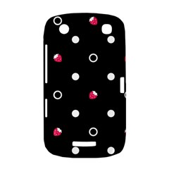 Strawberry Dots White With Black BlackBerry Curve 9380 Hardshell Case