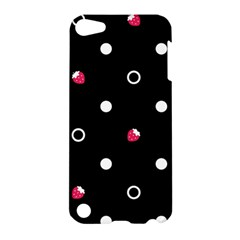 Strawberry Dots White With Black Apple iPod Touch 5 Hardshell Case