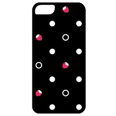 Strawberry Dots White With Black Apple iPhone 5 Classic Hardshell Case