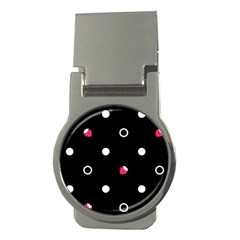 Strawberry Dots White With Black Money Clip (Round)