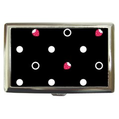 Strawberry Dots White With Black Cigarette Money Case