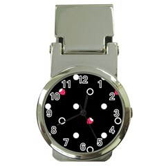 Strawberry Dots White With Black Money Clip Watch
