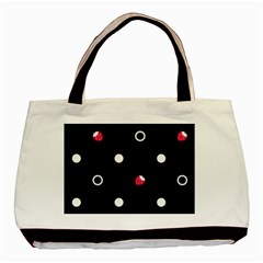 Strawberry Dots White With Black Classic Tote Bag