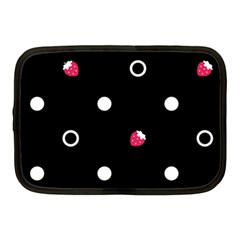 Strawberry Dots White With Black Netbook Case (medium)