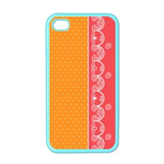 Lace Dots With Rose Gold Apple iPhone 4 Case (Color)