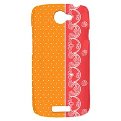 Lace Dots With Rose Gold HTC One S Hardshell Case