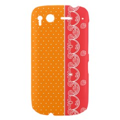 Lace Dots With Rose Gold HTC Desire S Hardshell Case
