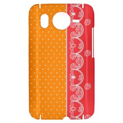 Lace Dots With Rose Gold HTC Desire HD Hardshell Case