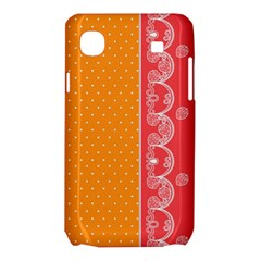 Lace Dots With Rose Gold Samsung Galaxy SL i9003 Hardshell Case