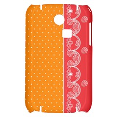 Lace Dots With Rose Gold Samsung S3350 Hardshell Case