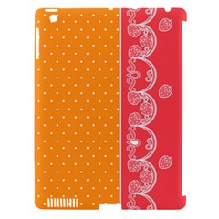 Lace Dots With Rose Gold Apple iPad 3/4 Hardshell Case (Compatible with Smart Cover)