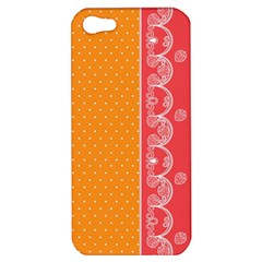 Lace Dots With Rose Gold Apple iPhone 5 Hardshell Case