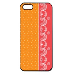 Lace Dots With Rose Gold Apple iPhone 5 Seamless Case (Black)