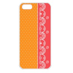 Lace Dots With Rose Gold Apple iPhone 5 Seamless Case (White)
