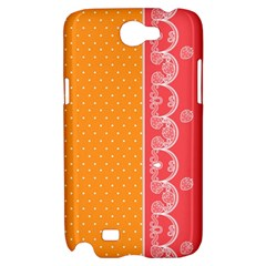 Lace Dots With Rose Gold Samsung Galaxy Note 2 Hardshell Case