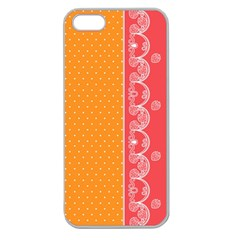 Lace Dots With Rose Gold Apple Seamless iPhone 5 Case (Clear)