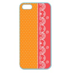 Lace Dots With Rose Gold Apple Seamless iPhone 5 Case (Color)