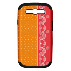 Lace Dots With Rose Gold Samsung Galaxy S III Hardshell Case (PC+Silicone)