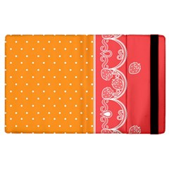 Lace Dots With Rose Gold Apple Ipad 2 Flip Case