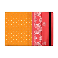 Lace Dots With Rose Gold Apple iPad Mini Flip Case