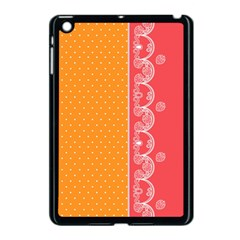Lace Dots With Rose Gold Apple Ipad Mini Case (black)