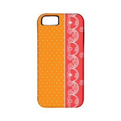 Lace Dots With Rose Gold Apple iPhone 5 Classic Hardshell Case (PC+Silicone)