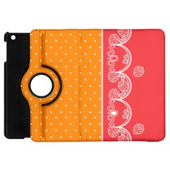 Lace Dots With Rose Gold Apple iPad Mini Flip 360 Case