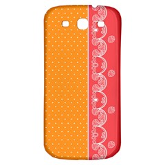 Lace Dots With Rose Gold Samsung Galaxy S3 S Iii Classic Hardshell Back Case