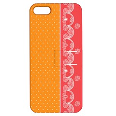 Lace Dots With Rose Gold Apple iPhone 5 Hardshell Case with Stand