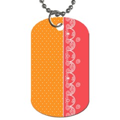 Lace Dots With Rose Gold Dog Tag (One Side)