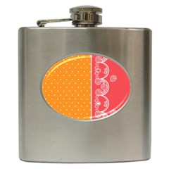 Lace Dots With Rose Gold Hip Flask (6 Oz)