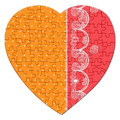 Lace Dots With Rose Gold Jigsaw Puzzle (Heart)