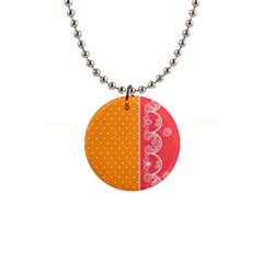 Lace Dots With Rose Gold 1  Button Necklace