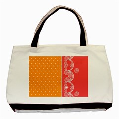 Lace Dots With Rose Gold Classic Tote Bag