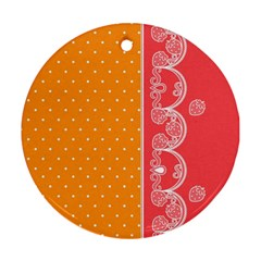 Lace Dots With Rose Gold Round Ornament (Two Sides)