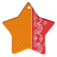 Lace Dots With Rose Gold Star Ornament (two Sides)