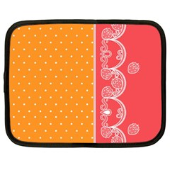 Lace Dots With Rose Gold Netbook Case (Large)