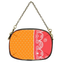 Lace Dots With Rose Gold Chain Purse (Two Sides)